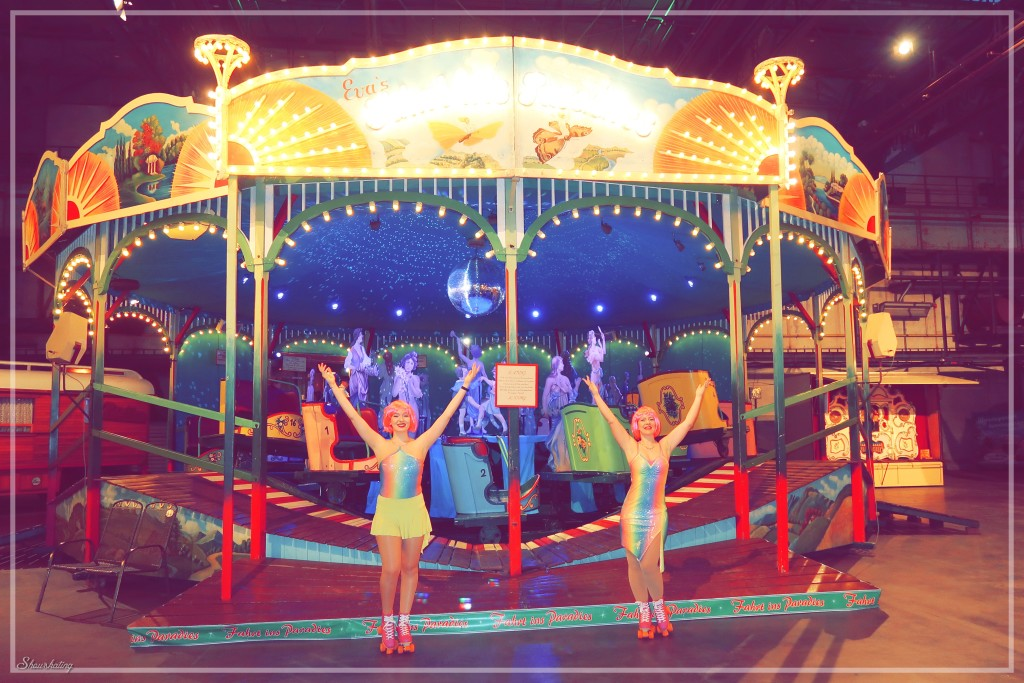 Pink Friday beim Historischen Jahrmarkt mit den Showskating Girls